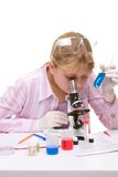 Student in laboratory Royalty Free Stock Photography