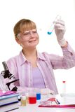 Student in laboratory Stock Photos