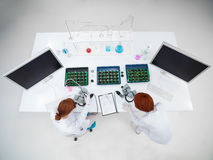 Student laboratory experiment Royalty Free Stock Photo