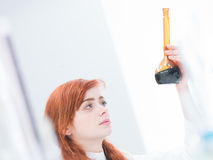 Student laboratory experiment Stock Photography