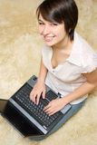 Student with laptop Stock Photography