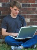 Student on a Laptop Royalty Free Stock Photos