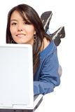 Student on a laptop Stock Images