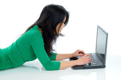 Student & Laptop Stock Image