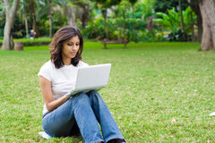 Student with laptop Royalty Free Stock Photos
