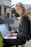 Student with laptop Royalty Free Stock Image