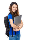 Student with laptop Stock Images