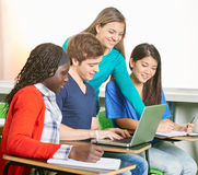 Student with a laptop Royalty Free Stock Photo