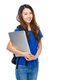 Student with laptop computer Stock Photography