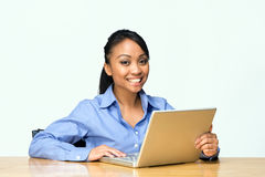 Student with Laptop-Horiz Stock Photo