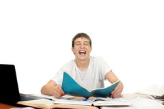 Student Laughing Stock Image