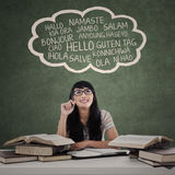 Student learn multilanguage 1 Stock Images