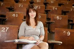Student in Lecture Hall Royalty Free Stock Photos