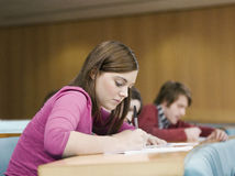 Student In lecture room Stock Photos