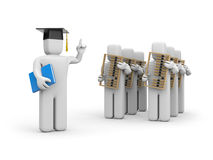 Student and lecturer or academic Stock Photography