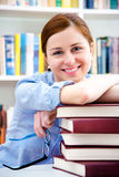 Student in a library Royalty Free Stock Images
