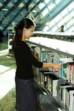 Student at library Royalty Free Stock Images