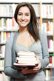Student in the Library Stock Photography