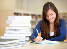 Student at the library Stock Image