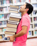 Student at the library Stock Images