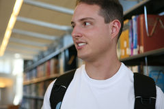 Student in Library Royalty Free Stock Photos