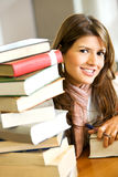 Student in a library Royalty Free Stock Image