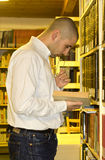 Student in the library Stock Images