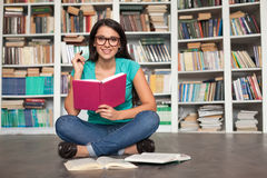Student in library. Stock Image