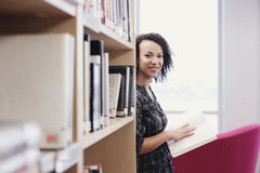 Student in library Royalty Free Stock Photo