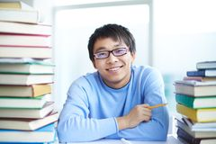 Student in library Stock Image