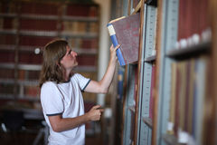 Student in the library Royalty Free Stock Image