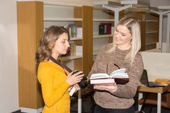Student in library stock photos