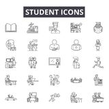 Student line icons for web and mobile design. Editable stroke signs. Student  outline concept illustrations. Student line icons for web and mobile. Editable vector illustration