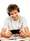 Student listen to Music Stock Photography