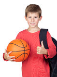 Student little child with blond hair Stock Image