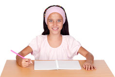 Student little girl Stock Image