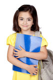 Student little girl with a backpack Stock Photos