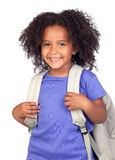 Student little girl with beautiful hairstyle Royalty Free Stock Photo