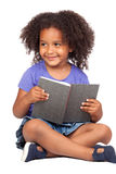 Student little girl reading with a book Stock Photography