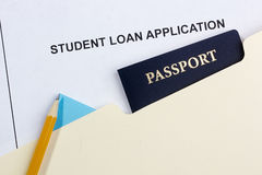 Student Loan Application Stock Photos