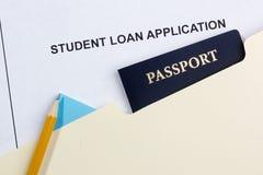 Student Loan Application Stock Photos