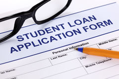 Student Loan Application Form Royalty Free Stock Image