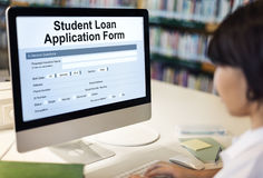 Student Loan Application Form Registration Concept Royalty Free Stock Image