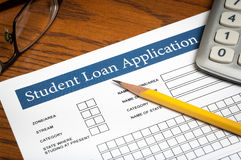 Student loan application Royalty Free Stock Photos