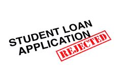 Student Loan Application Rejected royalty free stock photos