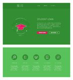Student loan  design template for websites and apps Stock Photography