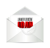 Student loan mail illustration design Stock Images