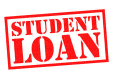 STUDENT LOAN. Red Rubber Stamp over a white background Royalty Free Stock Photography