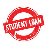 Student Loan rubber stamp. Grunge design with dust scratches. Effects can be easily removed for a clean, crisp look. Color is easily changed Royalty Free Stock Images