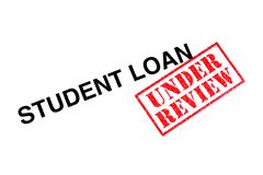 Student Loan Under Review arkivfoto
